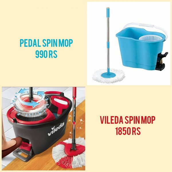 pedal spin mop