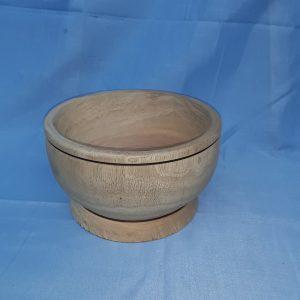 Wooden bowl with tacamaca